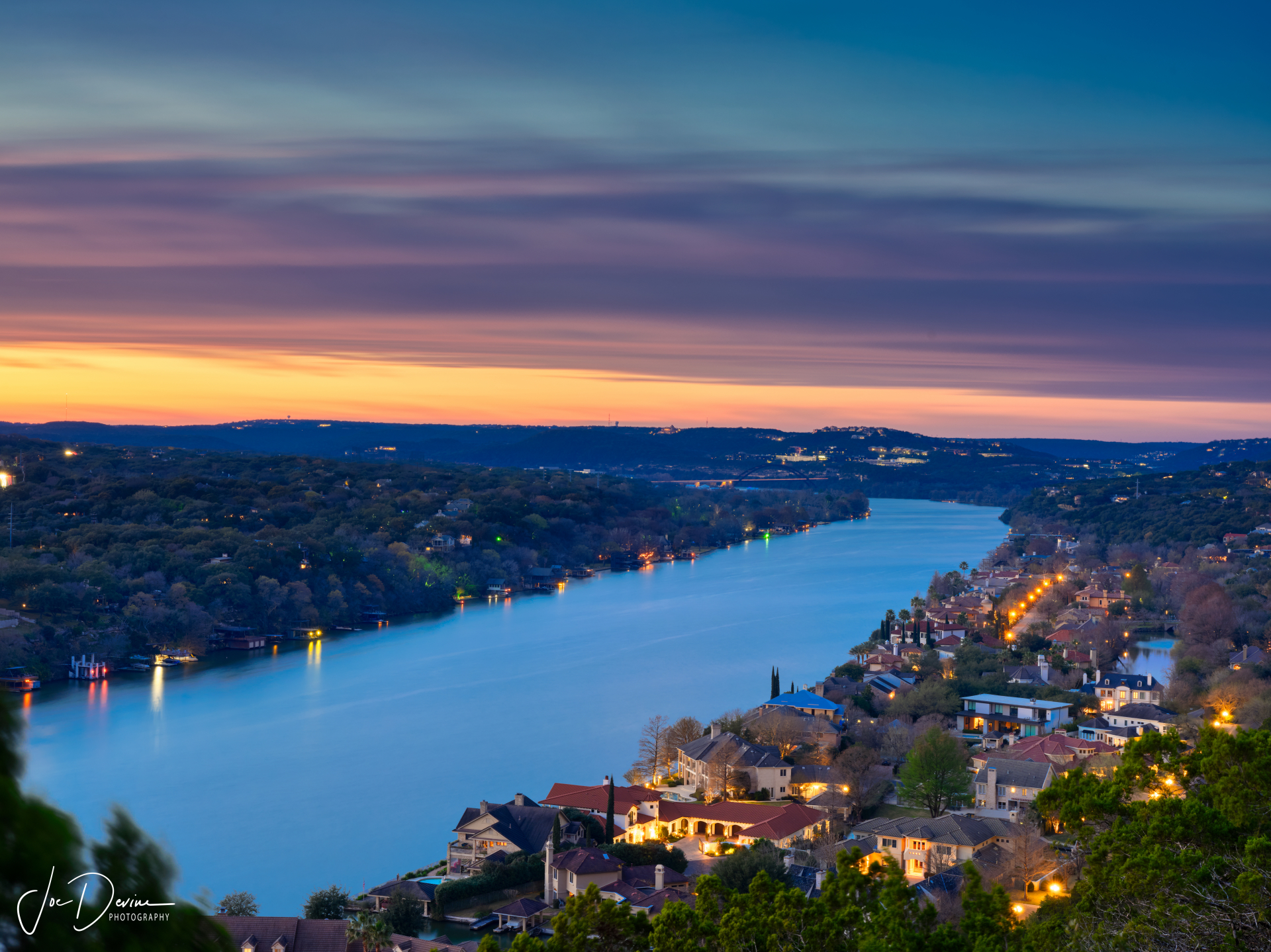 Mount Bonnell View at Sunset